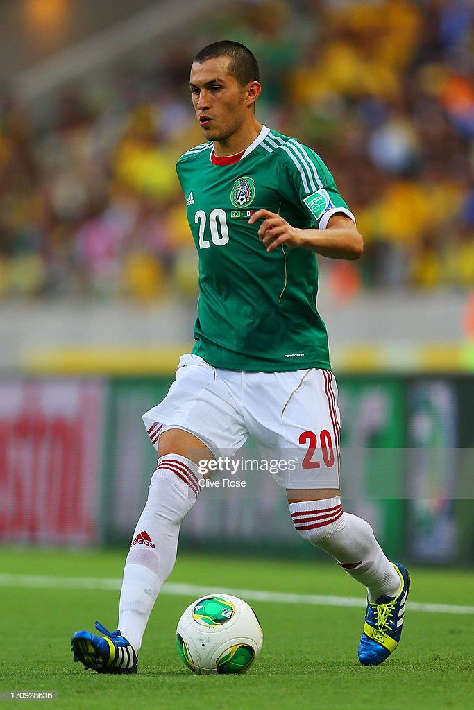 <a gi-track='captionPersonalityLinkClicked' href=/galleries/search?phrase=Jorge+Torres&family=editorial&specificpeople=540782 ng-click='$event.stopPropagation()'>Jorge Torres</a> Nilo of Mexico in action during the FIFA Confederations Cup Brazil 2013 Group A match between Brazil and Mexico at Castelao on June 19, 2013 in Fortaleza, Brazil.