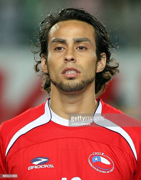 Jorge Valdivia of Chile looks on during Kirin Cup soccer match between Japan and Chile at Nagai Stadium on May 27 2009 in Osaka Japan