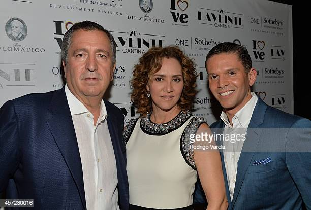 Jorge Vergara Angelica Fuentes and Rodner Figueroa attend I Love Venezuelan Foundation Event Cantina La No 20 at The Icon Brickell on October 14 2014...