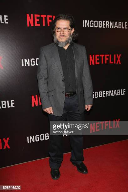 Jorge Zarate attends the launch of Netflix's series 'Ingobernable' red carpet at Auditorio BlackBerry on March 22 2017 in Mexico City Mexico