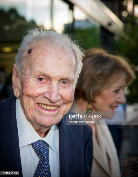 Jorge Zorreguieta father of Queen Maxima is seen at the Catholic University of Argentina on October 11 2016 in Buenos Aires Argentina