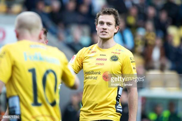 Jorgen Horn of IF Elfsborg reacts during the Allsvenskan match between IF Elfsborg and Jonkopings Sodra IF at Boras Arena on May 22 2017 in Boras...