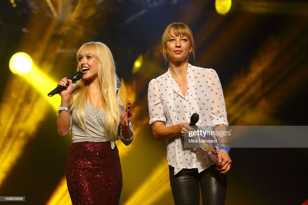 <a gi-track='captionPersonalityLinkClicked' href=/galleries/search?phrase=Jorgie+Porter&family=editorial&specificpeople=5831072 ng-click='$event.stopPropagation()'>Jorgie Porter</a> and Sarah Cox onstage at the Radio One Teen Awards at Wembley Arena on October 7, 2012 in London, England.
