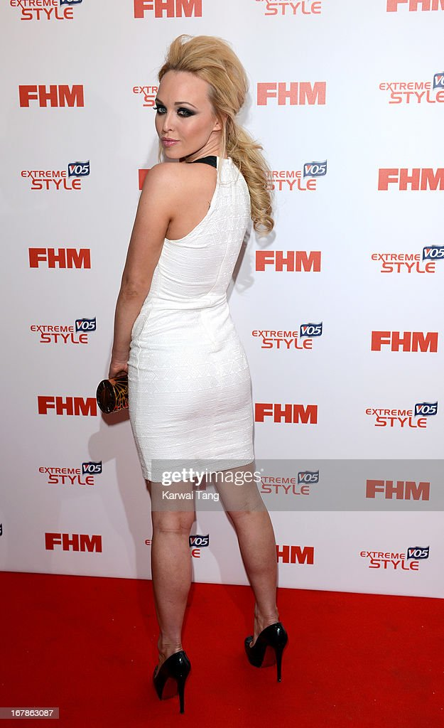 Jorgie Porter arrives for the FHM 100 Sexiest Women in the World 2013 Launch Party held at the Sanderson Hotel on May 1, 2013 in London, England.