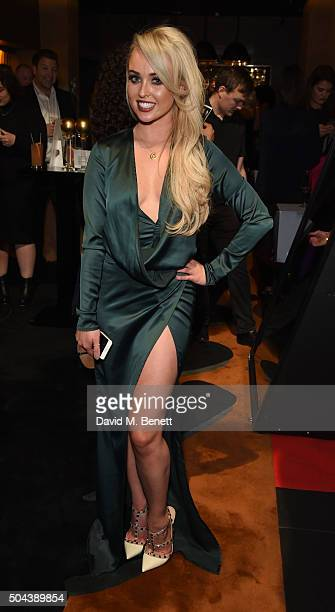 Jorgie Porter attends E's Live From The Red Carpet Golden Globes Watch Along Party held at St Martin's Lane Hotel on January 10 2016 in London England