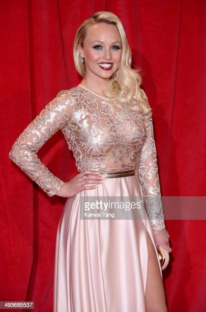 Jorgie Porter attends the British Soap Awards held at the Hackney Empire on May 24 2014 in London England
