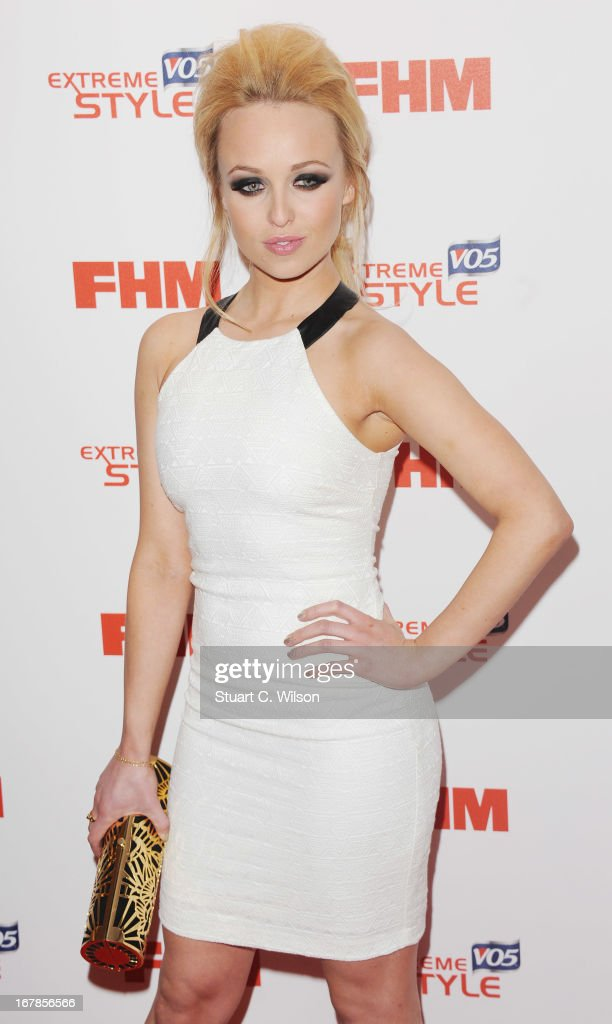 <a gi-track='captionPersonalityLinkClicked' href=/galleries/search?phrase=Jorgie+Porter&family=editorial&specificpeople=5831072 ng-click='$event.stopPropagation()'>Jorgie Porter</a> attends the FHM 100 Sexiest Women In The World 2013 Launch Party at Sanderson Hotel on May 1, 2013 in London, England.