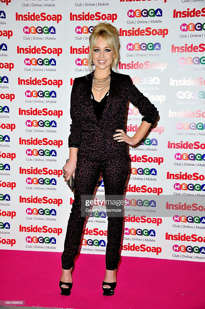 <a gi-track='captionPersonalityLinkClicked' href=/galleries/search?phrase=Jorgie+Porter&family=editorial&specificpeople=5831072 ng-click='$event.stopPropagation()'>Jorgie Porter</a> attends the Inside Soap Awards, at Ministry Of Sound on October 21, 2013 in London, England.