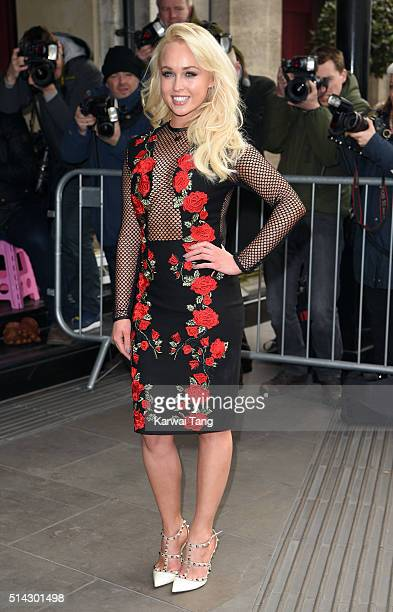 Jorgie Porter attends the TRIC Awards 2016 at Grosvenor House Hotel at The Grosvenor House Hotel on March 8 2016 in London England
