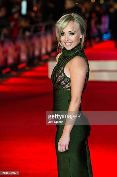 Jorgie Porter attends the UK Film Premiere of 'Daddy's Home' at Vue West End on December 9 2015 in London England