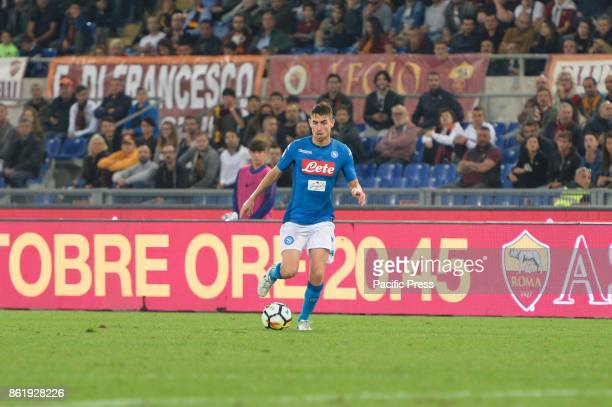 Jorginho during the Italian Serie A football match between AS Roma and SSC Napoli at the Olympic Stadium in Rome on october 14 2017