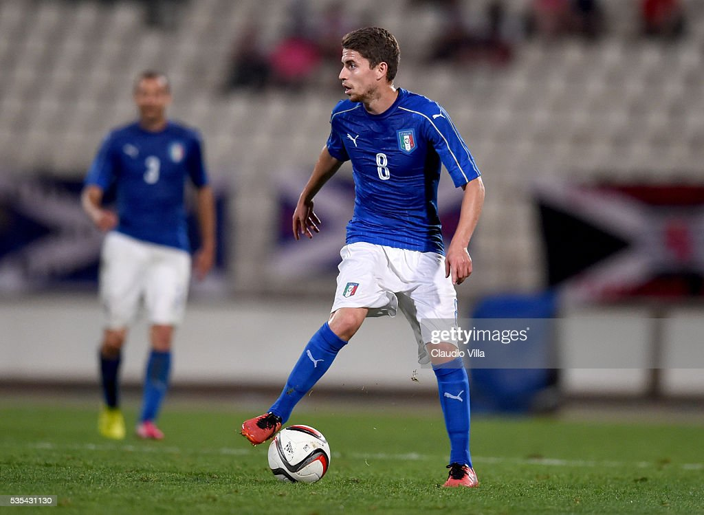 Jorginho of Italy in action during the international friendly between Italy and Scotland on May 29, 2016 in Malta, Malta.