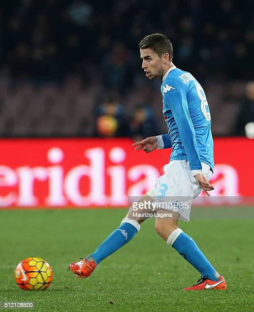 Jorginho of Napoli during the Serie A between SSC Napoli and AC Milan at Stadio San Paolo on February 22 2016 in Naples Italy