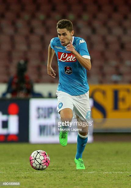 Jorginho of Napoli during the Serie A match between SSC Napoli and Juventus FC at Stadio San Paolo on September 26 2015 in Naples Italy