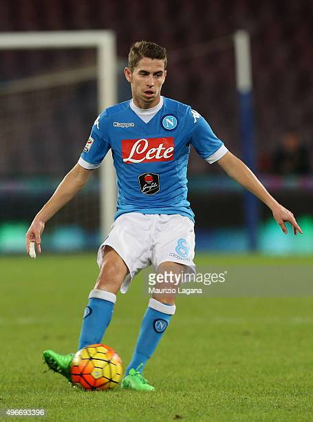 Jorginho of Napoli during the Serie A match between SSC Napoli and Udinese Calcio at Stadio San Paolo on November 8 2015 in Naples Italy