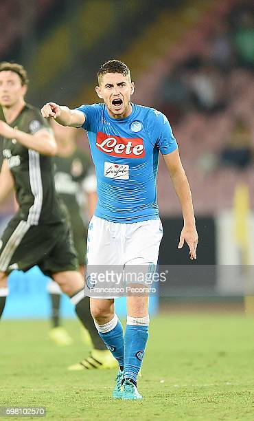 Jorginho of Napoli in action before the Serie A match between SSC Napoli and AC Milan at Stadio San Paolo on August 27 2016 in Naples Italy