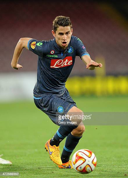 Jorginho of Napoli in action during the UEFA Europa League Semi Final between SSC Napoli and FC Dnipro Dnipropetrovsk on May 7 2015 in Naples Italy