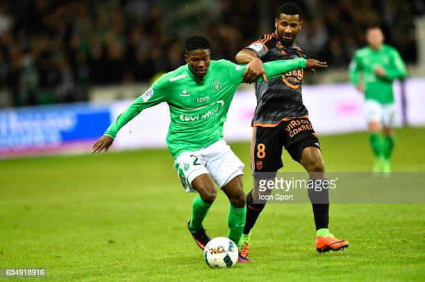 Jorginho of SaintEtienne Carlos Miguel Cafu of Lorient during the Ligue 1 match between AS Saint Etienne and Fc Lorient at Stade GeoffroyGuichard on...