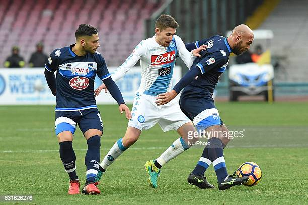 Jorginho of SSC Napoli during the Serie A TIM match between SSC Napoli and Pescara Calcio at Stadio San Paolo Naples Italy on 15 January 2017