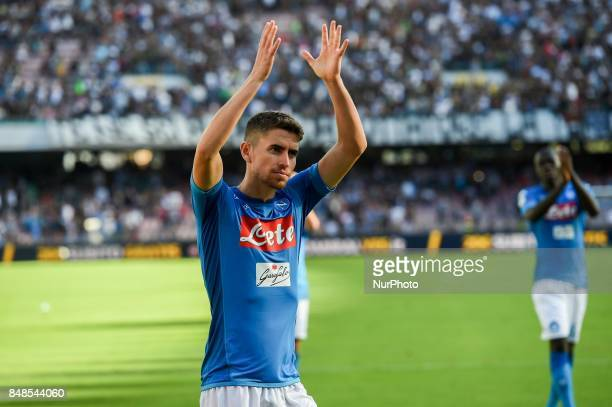 Jorginho of SSC Napoli during the Serie A TIM match between SSC Napoli and Benevento Calcio at Stadio San Paolo Naples Italy on 17 September 2017