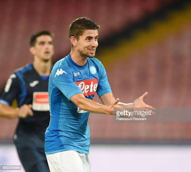 Jorginho of SSC Napoli in action during the preseason friendly match between SSC Napoli and Espanyol at Stadio San Paolo on August 10 2017 in Naples...