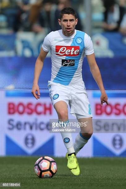 Jorginho of SSC Napoli in action during the Serie A match between Empoli FC and SSC Napoli at Stadio Carlo Castellani on March 19 2017 in Empoli Italy