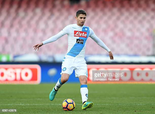 Jorginho of SSC Napoli in action during the Serie A match between SSC Napoli and FC Torino at Stadio San Paolo on December 18 2016 in Naples Italy