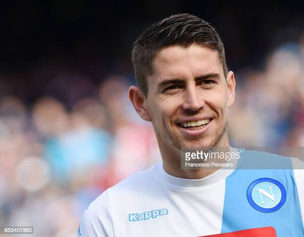 Jorginho of SSC Napoli in action during the Serie A match between SSC Napoli and FC Crotone at Stadio San Paolo on March 12 2017 in Naples Italy