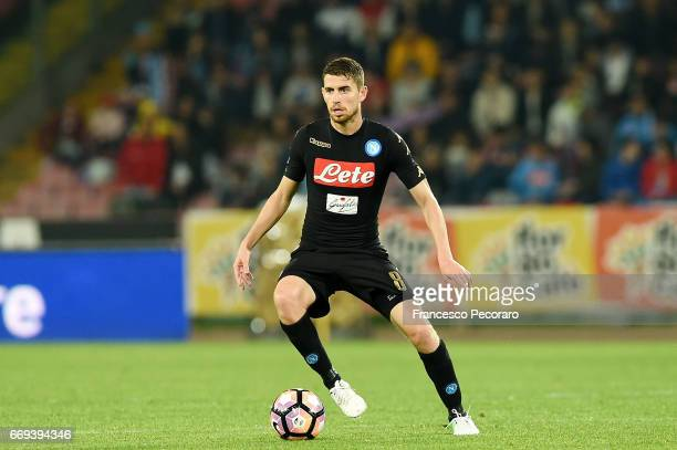 Jorginho of SSC Napoli in action during the Serie A match between SSC Napoli and Udinese Calcio at Stadio San Paolo on April 15 2017 in Naples Italy