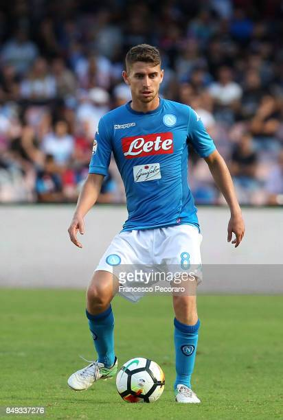 Jorginho of SSC Napoli in action during the Serie A match between SSC Napoli and Benevento Calcio at Stadio San Paolo on September 17 2017 in Naples...
