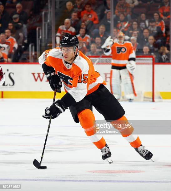 Jori Lehtera of the Philadelphia Flyers skates against the Colorado Avalanche at the Wells Fargo Center on November 4 2017 in Philadelphia...