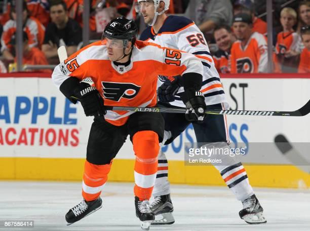 Jori Lehtera of the Philadelphia Flyers skates against the Edmonton Oilers on October 21 2017 at the Wells Fargo Center in Philadelphia Pennsylvania