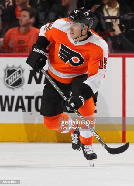 Jori Lehtera of the Philadelphia Flyers skates against the Nashville Predators on October 19 2017 at the Wells Fargo Center in Philadelphia...