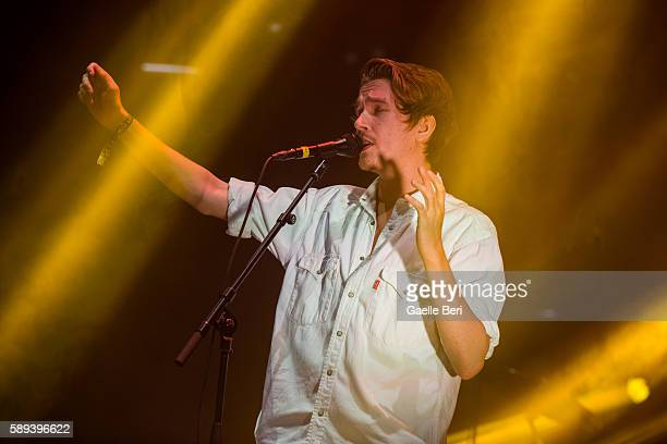Jori Sjroos performs live with Rooxx at Flow Festival on August 13 2016 in Helsinki Finland