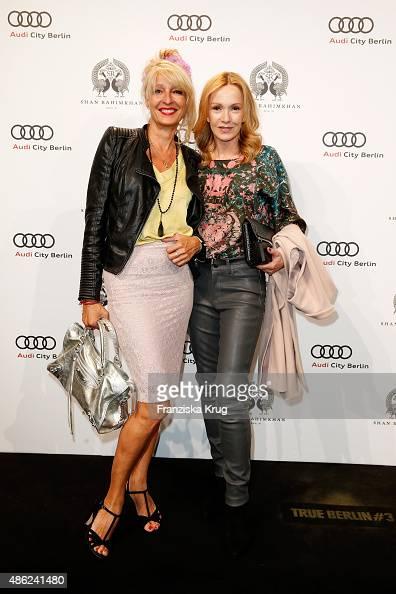 Jorinde Gersina and Katja Flint attend True Berlin by Shan Rahimkhan on September 2 2015 in Berlin Germany