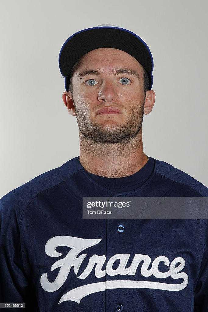 Joris Bert of Team France poses for a head shot for the World Baseball Classic Qualifier at Roger Dean Stadium on September 18 2012 in Jupiter Florida