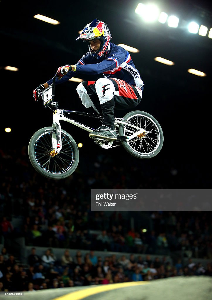 Joris Daudet of France competes in the Elite Mens time trial during day four of the UCI BMX World Championships at Vector Arena on July 27, 2013 in Auckland, New Zealand.