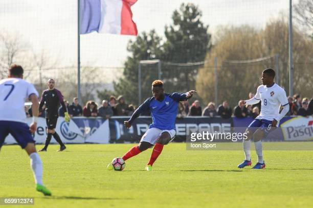 Joris Gnagnon of France during the 4 Nations Tournament U20 match between France and Portugal on March 28 2017 in Ploufragan France
