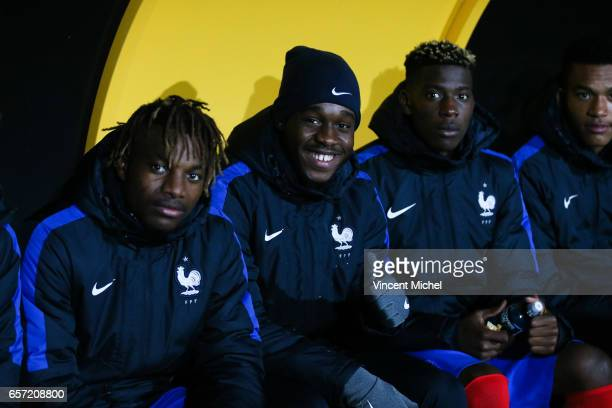Joris Gnagnon of France during the friendly U20 match between France and Senegal on March 23 2017 in SaintMalo France