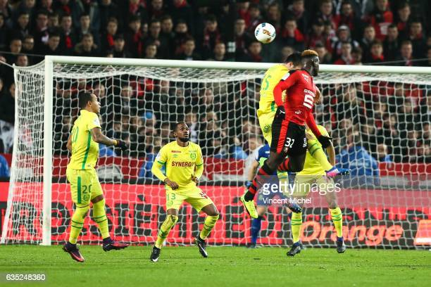 Joris Gnagnon of Rennes during the French Ligue 1 match between Rennes and Nantes at Stade de la Route de Lorient on January 28 2017 in Rennes France