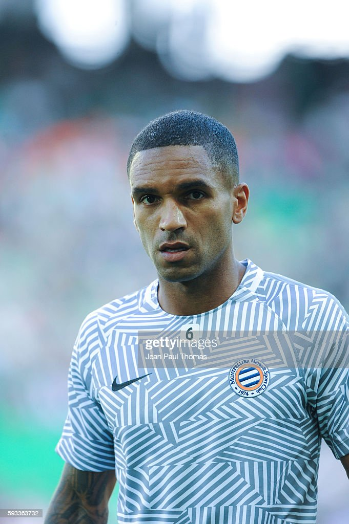 Joris MARVEAUX of Montpellier during the Ligue 1 match between As Saint Etienne and Montpellier Herault at Stade GeoffroyGuichard on August 21 2016...