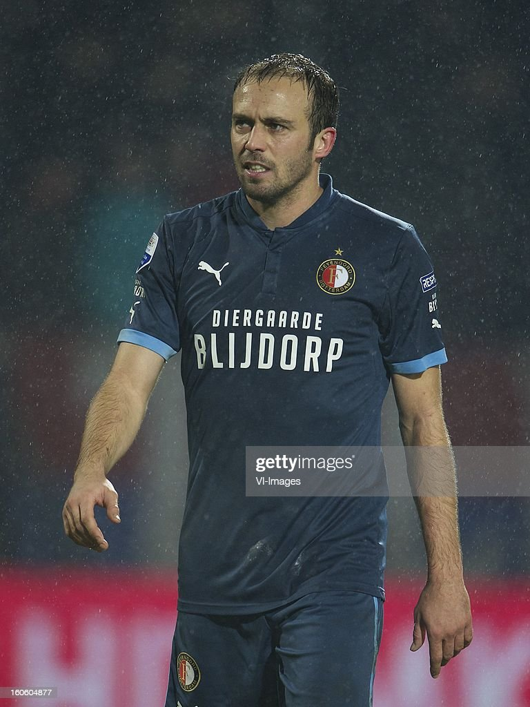 Joris Mathijssen of Feyenoord during the Dutch Eredivisie match between Willem II and Feyenoord at the Koning Willem II Stadium on february 3, 2013 in Tilburg, The Netherlands