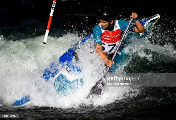 Joris Otten of The Netherlands competes during the Canoe Single Men's Qualification of the ICF Canoe Slalom World Cup on June 23 2017 in Augsburg...