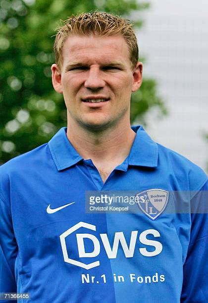 Joris van Hout poses during the Bundesliga Team Presentation of VfL Bochum on June 26 2006 in Bochum Germany