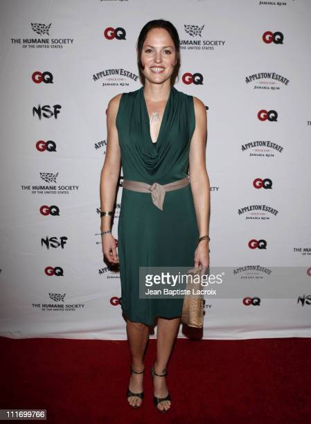 Jorja Fox arrives at NSF The Humane Society Of The US And GQ Magazine Benefit to stop puppy mills on September 22 2009 in Los Angeles California