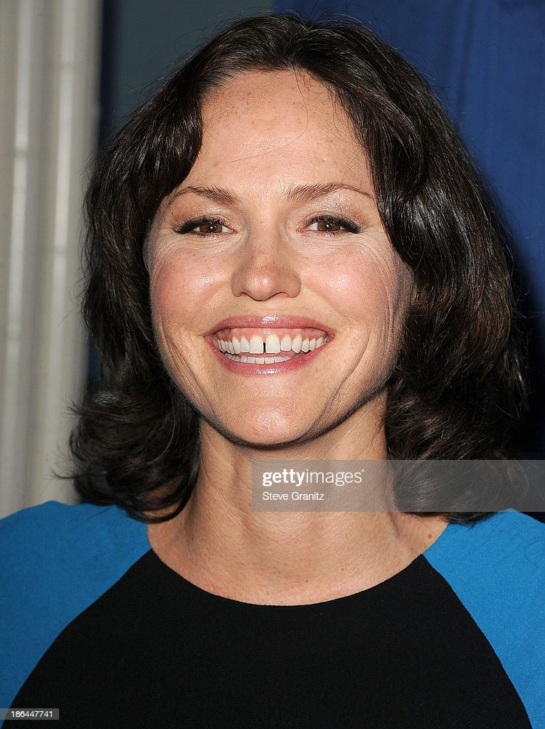 Jorja Fox arrives at the Oceana Partners Award Gala With Former Secretary Of State Hillary Rodham Clinton and HBO CEO Richard Pleple at Regent Beverly Wilshire Hotel on October 30, 2013 in Beverly Hills, California.