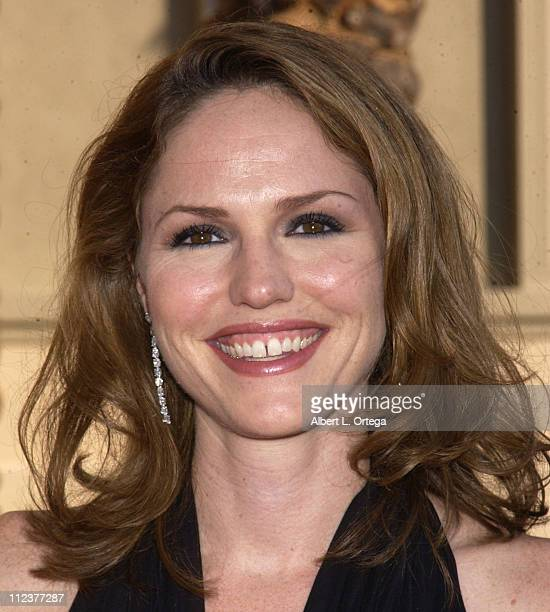 Jorja Fox during 2002 Creative Arts Emmy Awards Arrivals at Shrine Auditorium in Los Angeles California United States