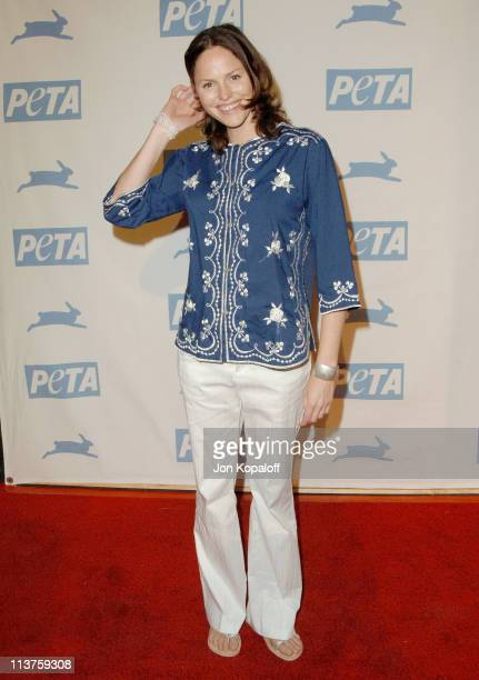 Jorja Fox during 25th Anniversary Gala for PETA and Humanitarian Awards Arrivals at Paramount Pictures in Hollywood California United States