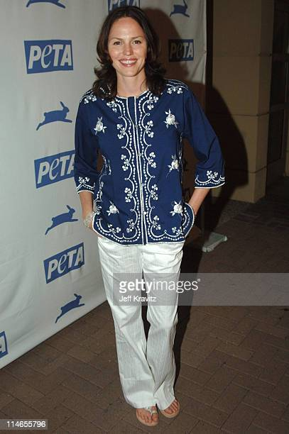 Jorja Fox during 25th Anniversary Gala for PETA and Humanitarian Awards Press Room at Paramount Studios in Hollywood California United States
