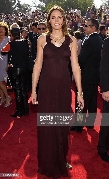 Jorja Fox during The 55th Annual Primetime Emmy Awards Arrivals at The Shrine Theater in Los Angeles California United States